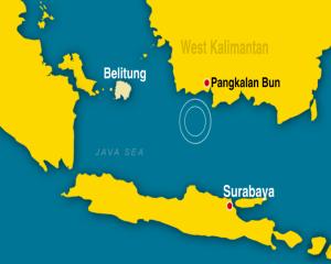 plane found pangkalan-bun-map-data